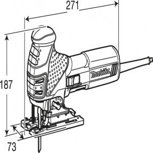 Disegno Seghetto Alternativo 580W Makita 4351T