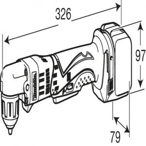 Disegno Trapano Makita BDA341Z