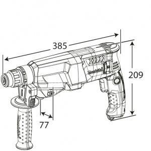 Disegno Tassellatore Makita HR2611FT