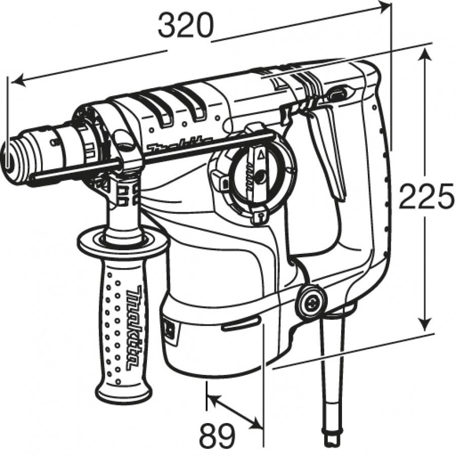 Disegno Tassellatore Makita HR2811F