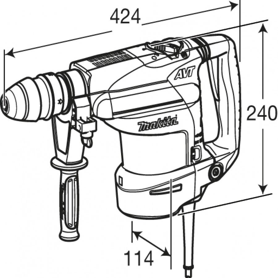 Disegno Tassellatore Makita HR3210FCT