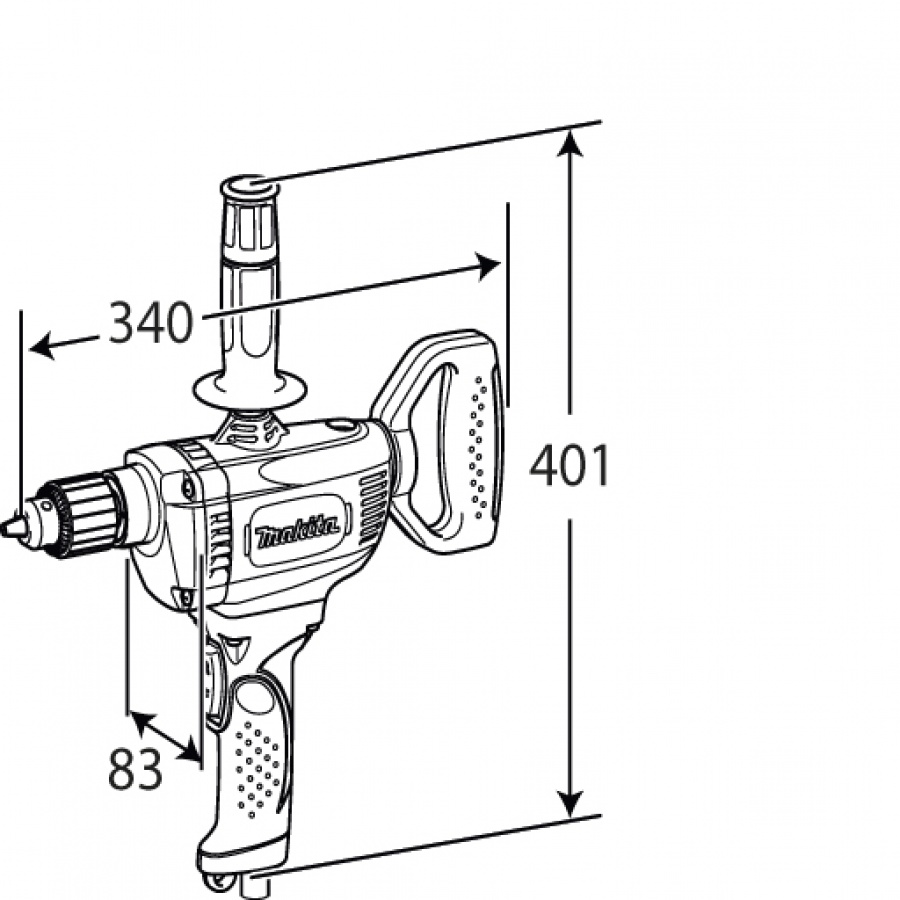 Disegno Trapano Miscelatore Makita DS4011
