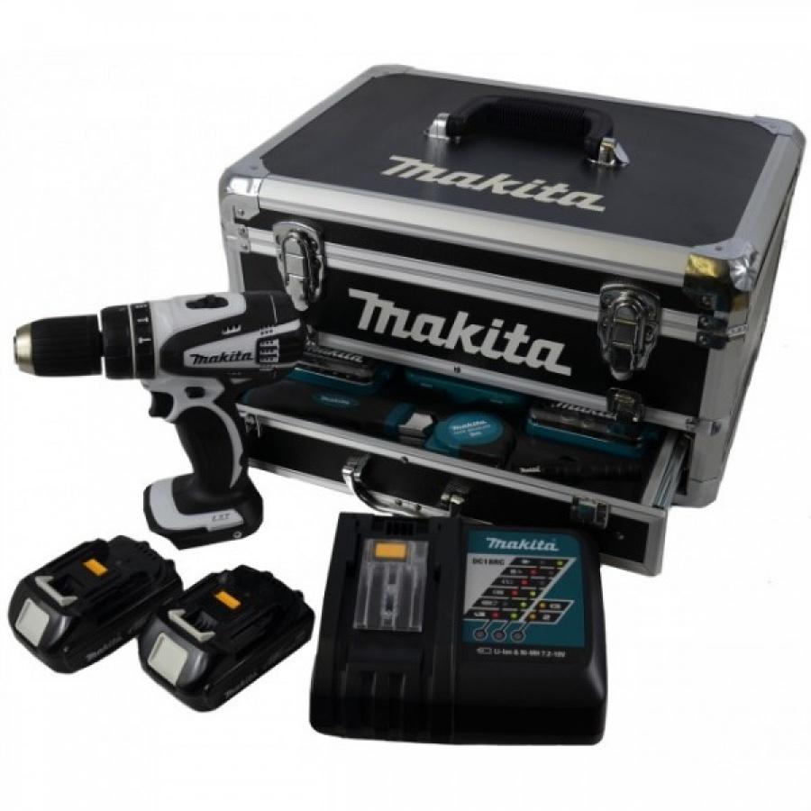 Trapano avvitatore con percussione Makita DHP456-2