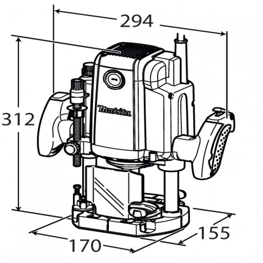 Disegno Fresatrice verticale Makita rp1800fxc