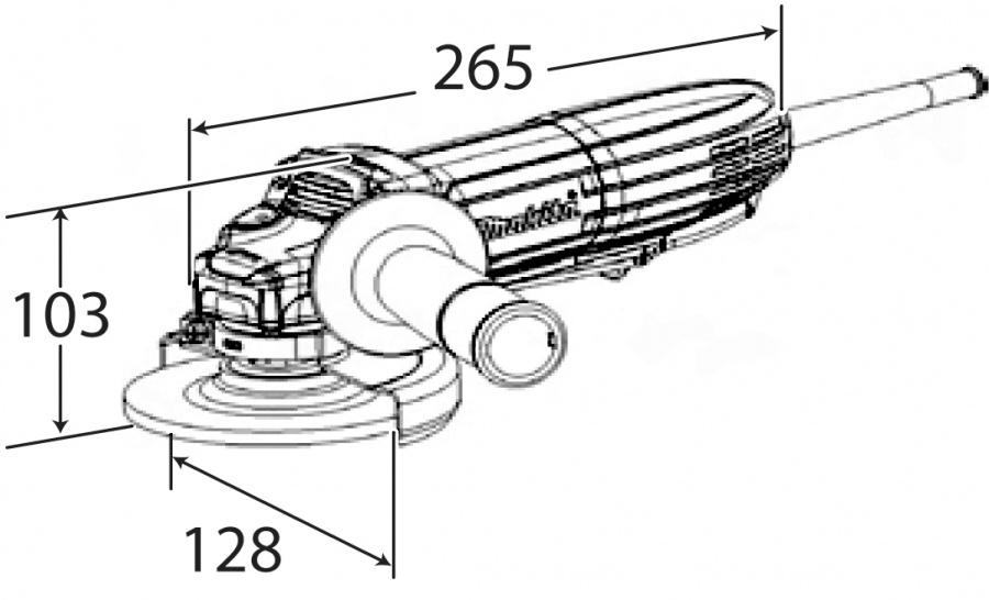 Disegno smerigliatrice angolare Makita GA4534