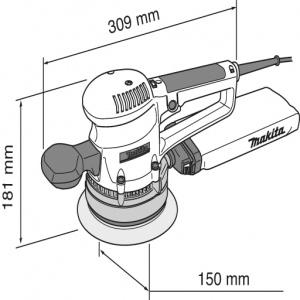 Levigatrice orbitale 310W Makita BO6030 D. mm. 150
