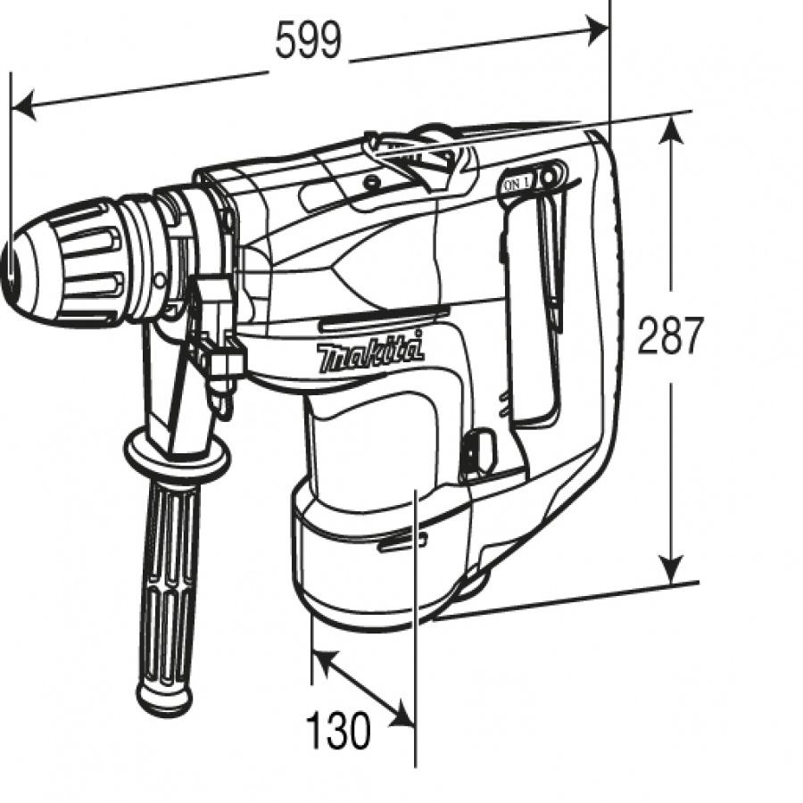 Disegno Martello rotativo makita HR5201C