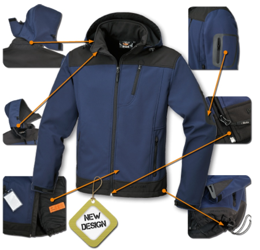 Giacca in softshell foderato Beta 7682BL