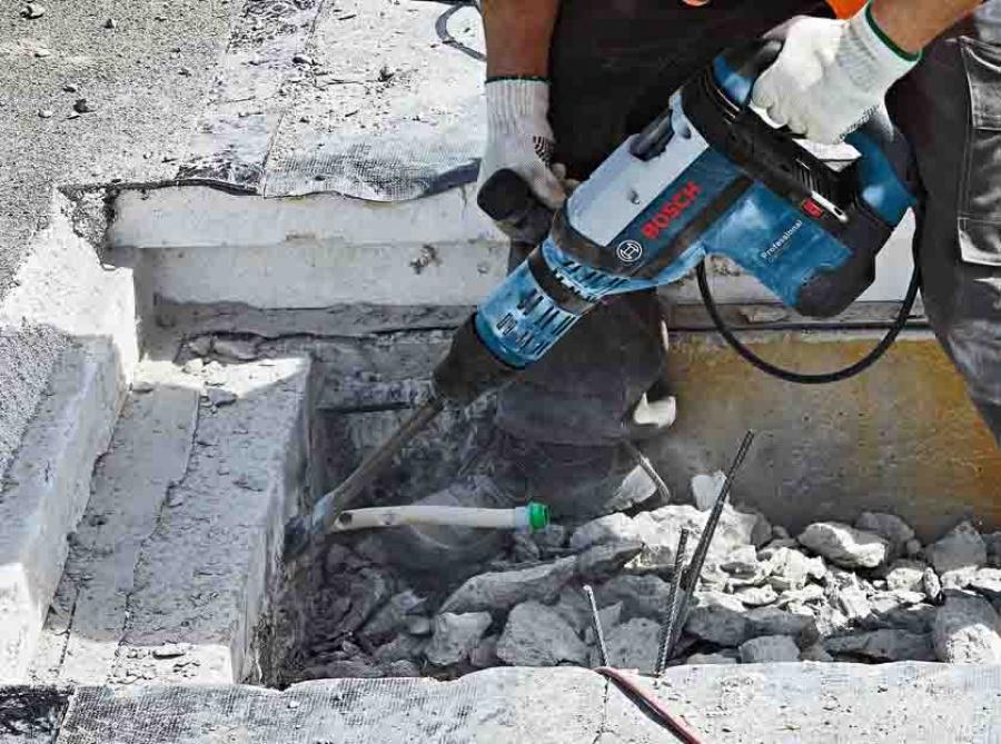 Utilizzo martello demolitore Bosch GSH 7 VC Professional