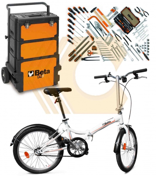 Kit carrello con assortimento e bici Beta