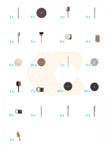 Disegno set 105 accessori Dremel 3000-3/105