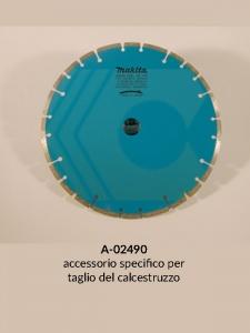 Disegno 2 disco diamantato a settori per mototroncatrice