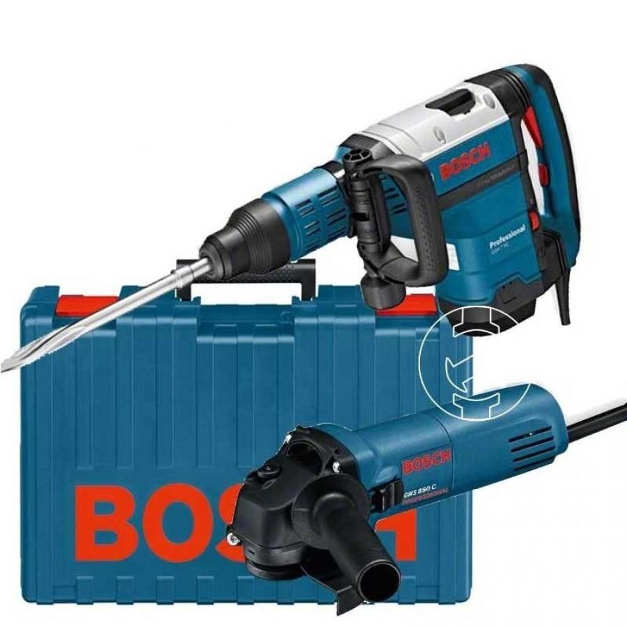 Kit Bosch GSH 7 VC + GWS 850 C + Borsone da lavoro