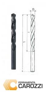 Immagine Punte elicoidali cilindriche professionali HSS DIN 338