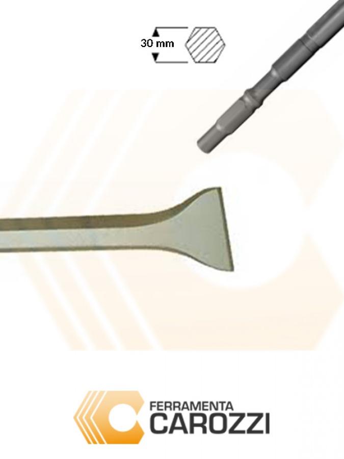 immagine 2 Scalpello a cucchiaio attacco esagonale 30 mm