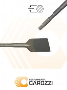 immagine Scalpello a vanghetta per asfalto attacco esagonale 30 mm