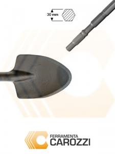 immagine Scalpello a vanghetta attacco esagonale 30 mm