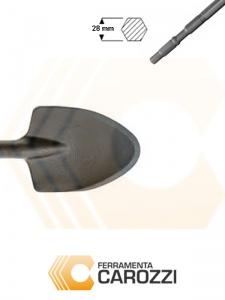 immagine Scalpello a vanghetta per asfalto attacco esagonale 28 mm
