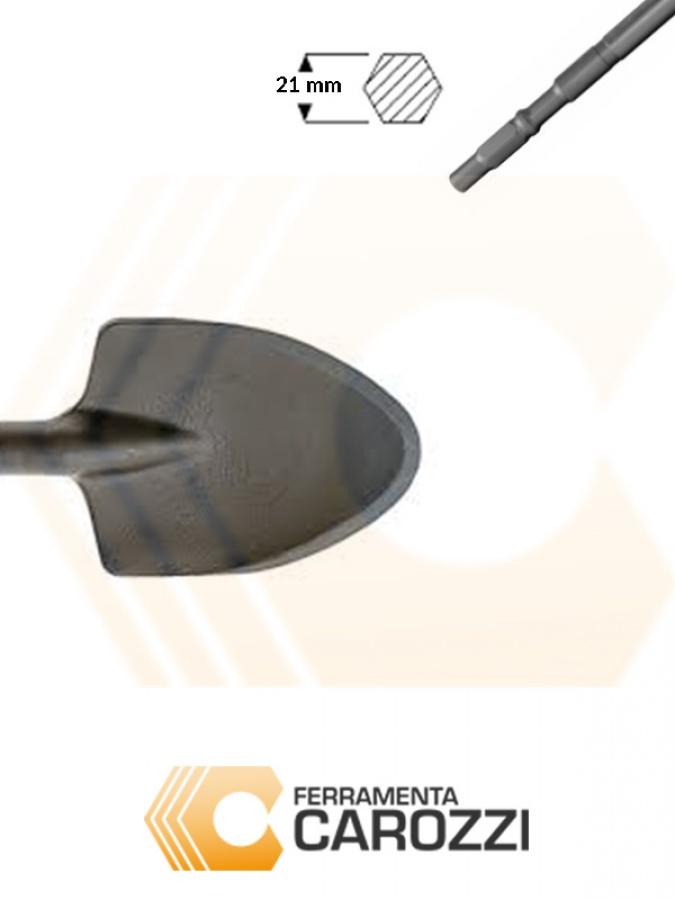 immagine Scalpello a vanghetta attacco esagonale 21 mm