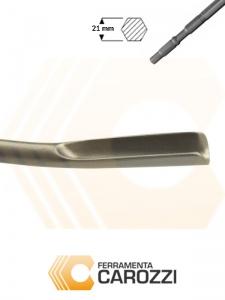 immagine 2 Scalpello a sgorbia attacco esagonale 21 mm