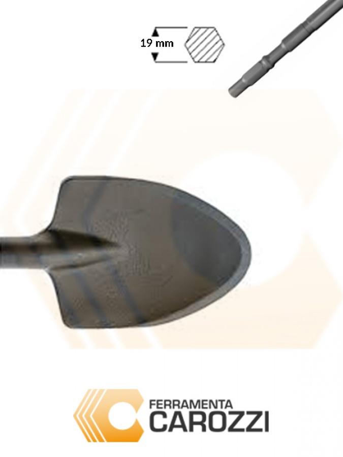 immagine Scalpello a vanghetta attacco esagonale 19 mm