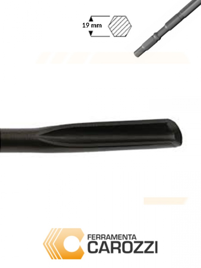 immagine Scalpello a sgorbia attacco esagonale 19 mm