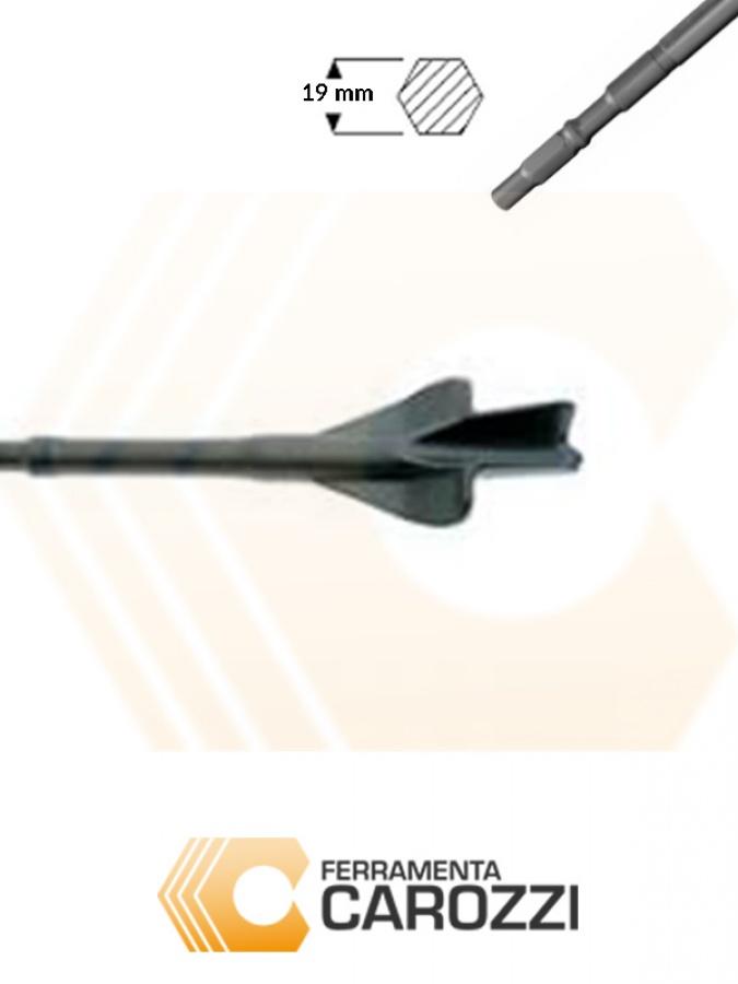 immagine Scalpello a sgorbia per muratura attacco esagonale 19 mm
