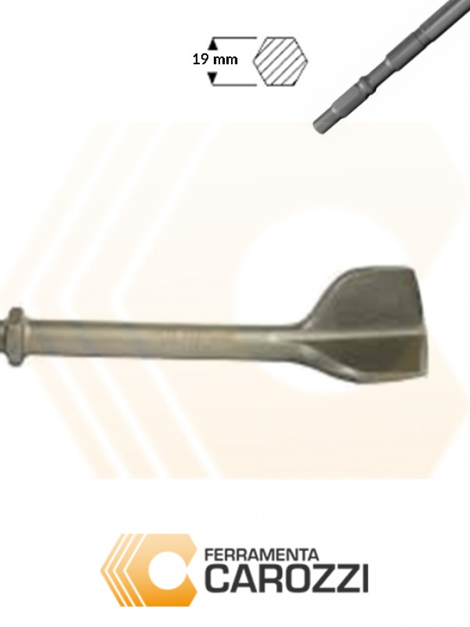 Immagine Scalpello per scanalature attacco esagonale 19 mm