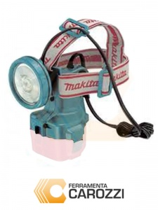 immagine Lampada a batteria estraibile utilizzzabile come caschetto