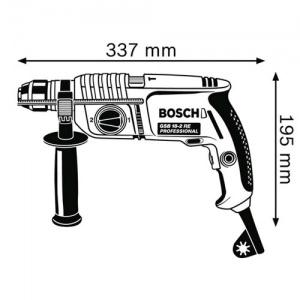 dimensioni Trapano a percussione Bosch GSB 18-2-RE