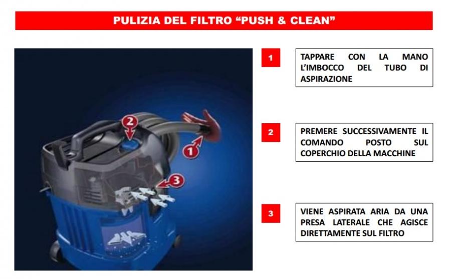 Aspirapolvere Makita VC3011L Pusch & Clean
