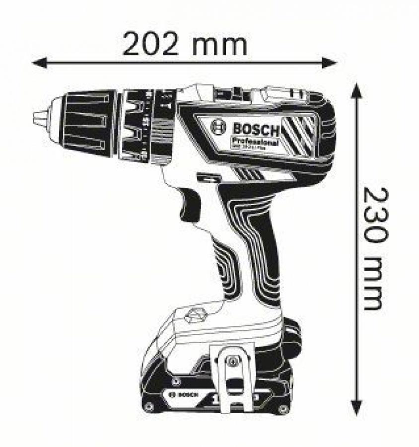 disegno GSB 18-2-LI Plus Professional