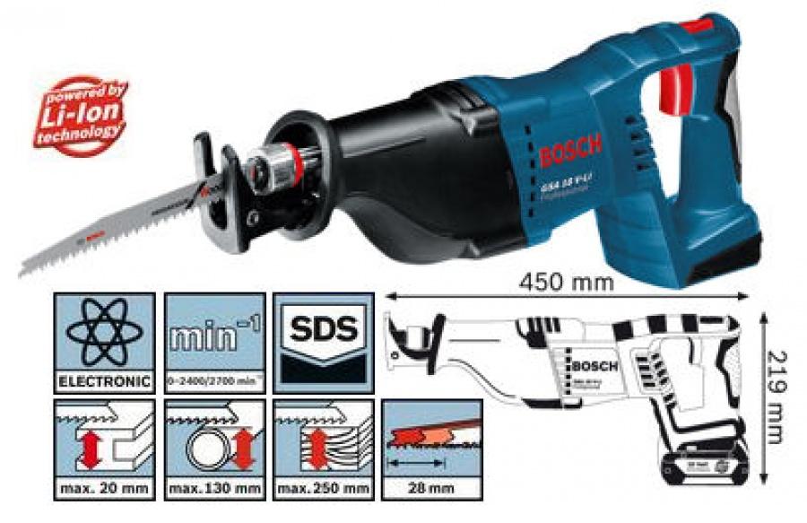 Seghetto diritto Bosch GSA 18 V-LI Professional