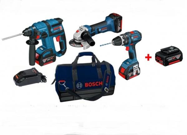 Kit elettroutensili Bosch GBH 18 V-EC + GSB 18 V-LI + GWS 18 V-LI