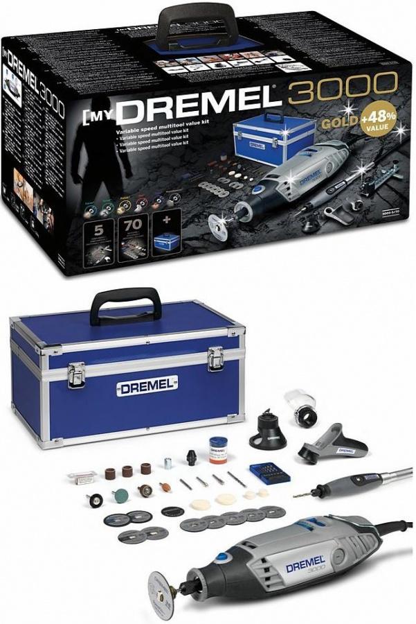 Utensile multifunzione Dremel 3000-5/70 Kit Gold