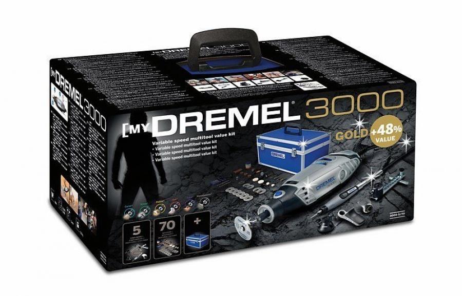 Scatola Utensile multifunzione Dremel 3000-5/70 Kit Gold