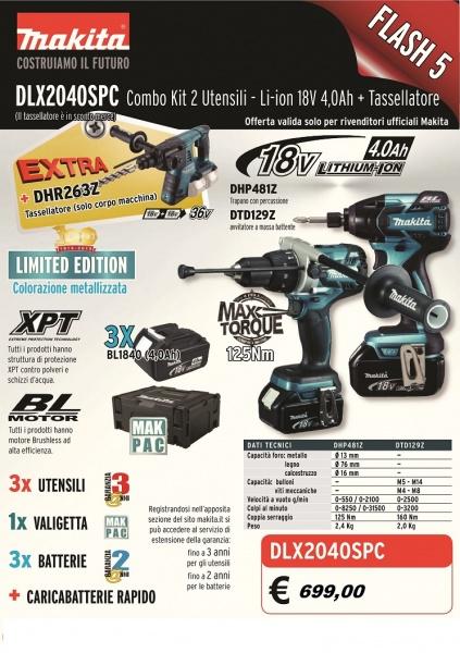 Depliant Kit 18v Makita DLX2040SPC