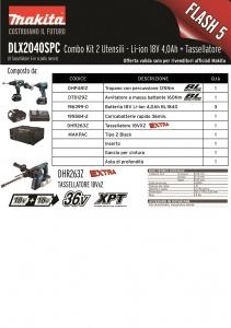 Scheda Kit 18v Makita DLX2040SPC