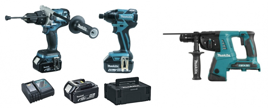 Kit 18v Makita DLX2040SPC + DHR264Z