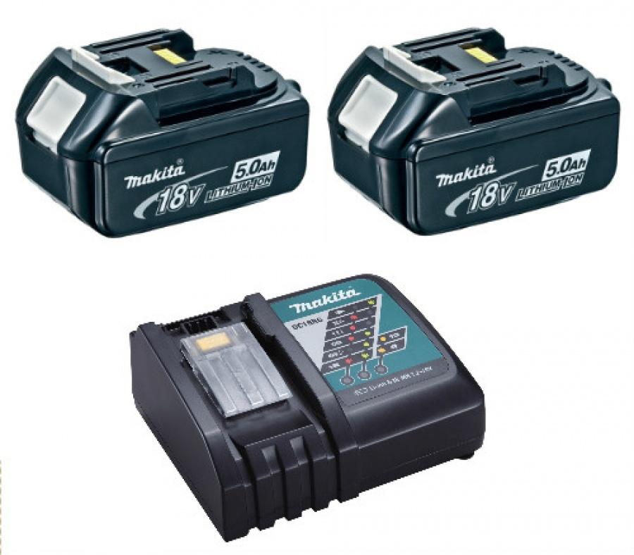 Kit energy batterie 5,0 Ah 18v e caricabatterie Makita 197624-2 - dettaglio 1