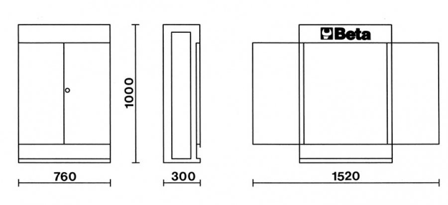 Armadietto cargoevolution  beta c53 dimensioni